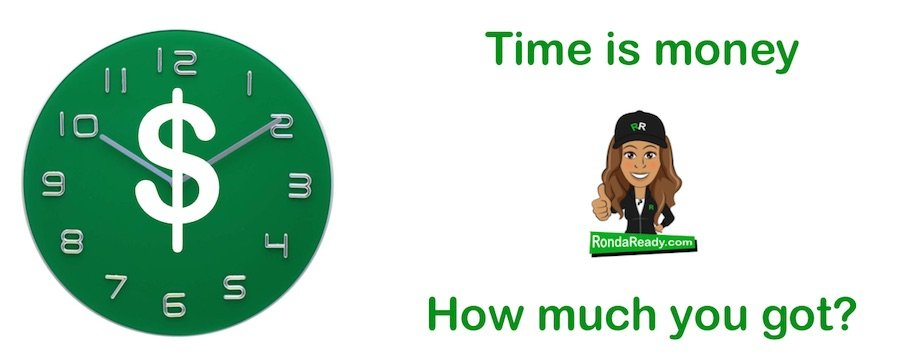 Time is money or money represents time