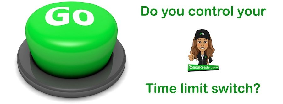Do you control your time limit switch?