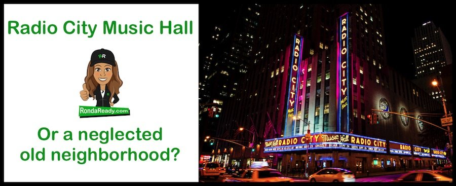 Radio City Music Hall or neglected old neighborhood?