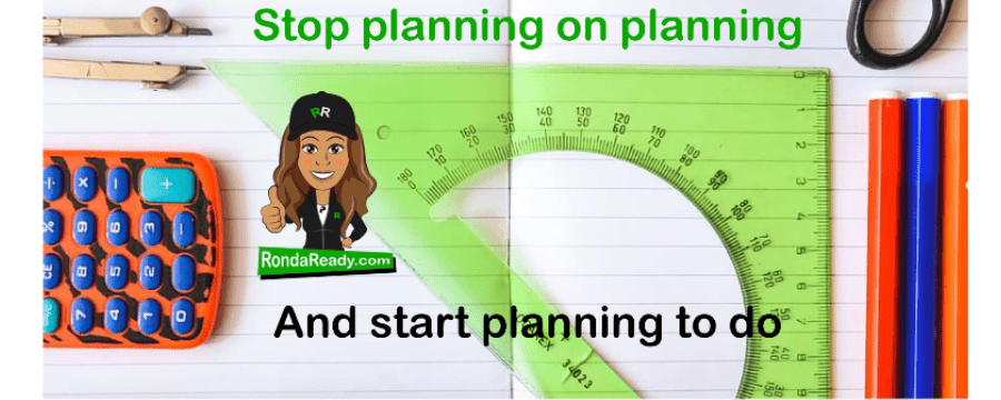 Stop planning on planning