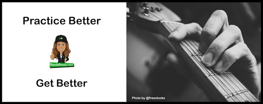 Practice better get better and stay in control