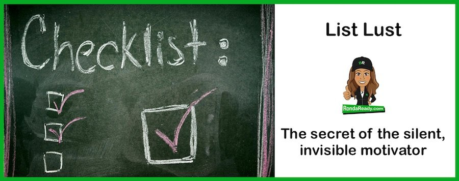 List lust: the secret of the silent, invisible motivator