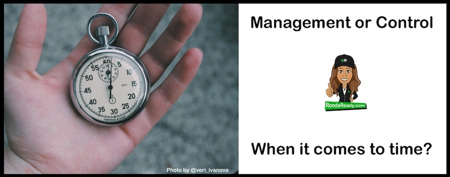 Time control or management?