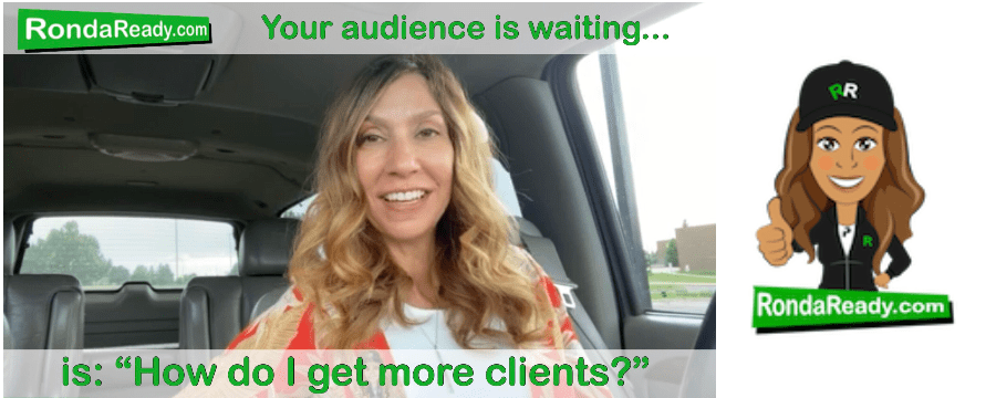 Your audience is waiting for you to say the right thing. No pressure.