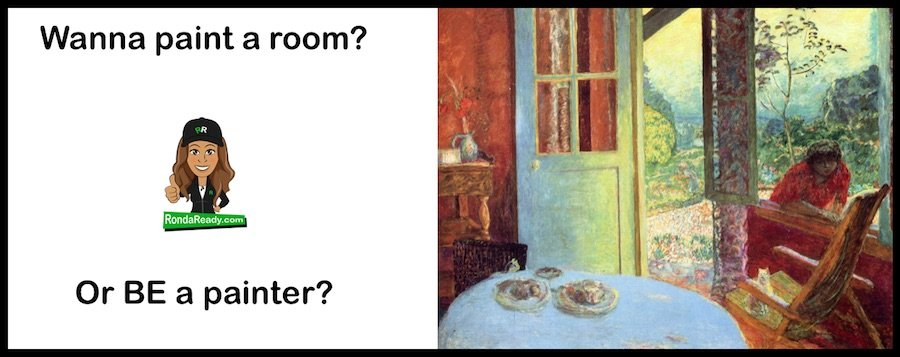 Wanna paint a room? Or BE a painter?