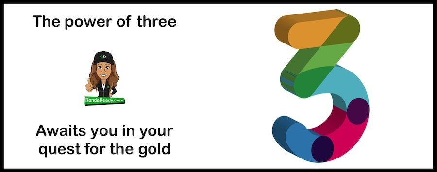 Power of three awaits you in your quest for the gold