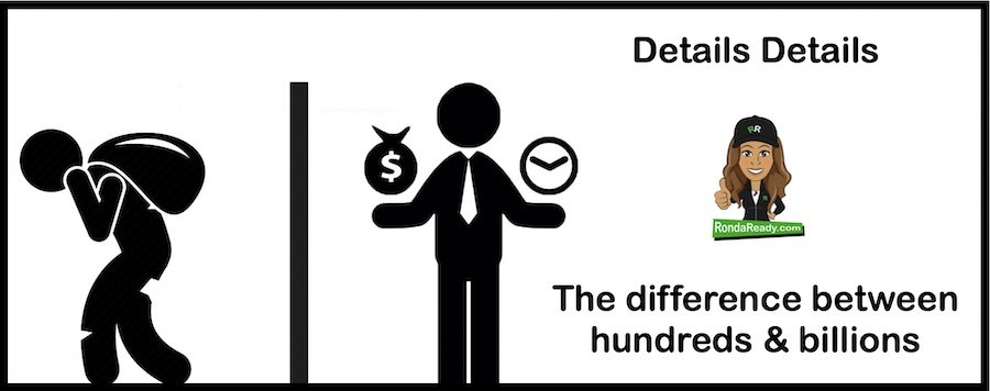 Details details - The difference between hundreds and billions