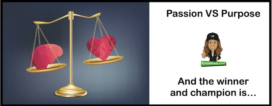 Passion versus purpose: and the winner is