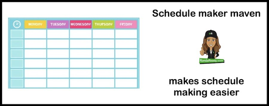 Schedule maker maven makes schedule making easier