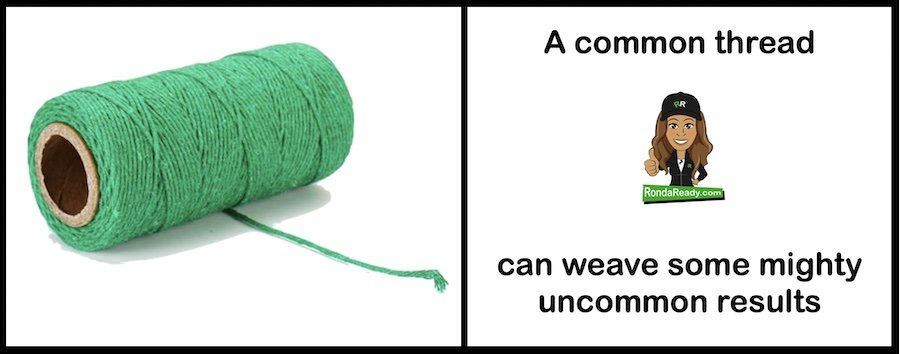 Common thread can weave some mighty uncommon results