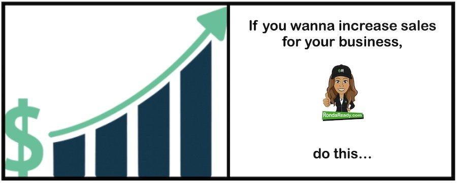 Increase sales by not focusing on increasing sales